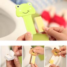3XBathroom Set Cute Cartoon Toilet Cover Clamshell Holder Device Toilet Lid Portable Handle Bath Accessories Toilet Seat Opener