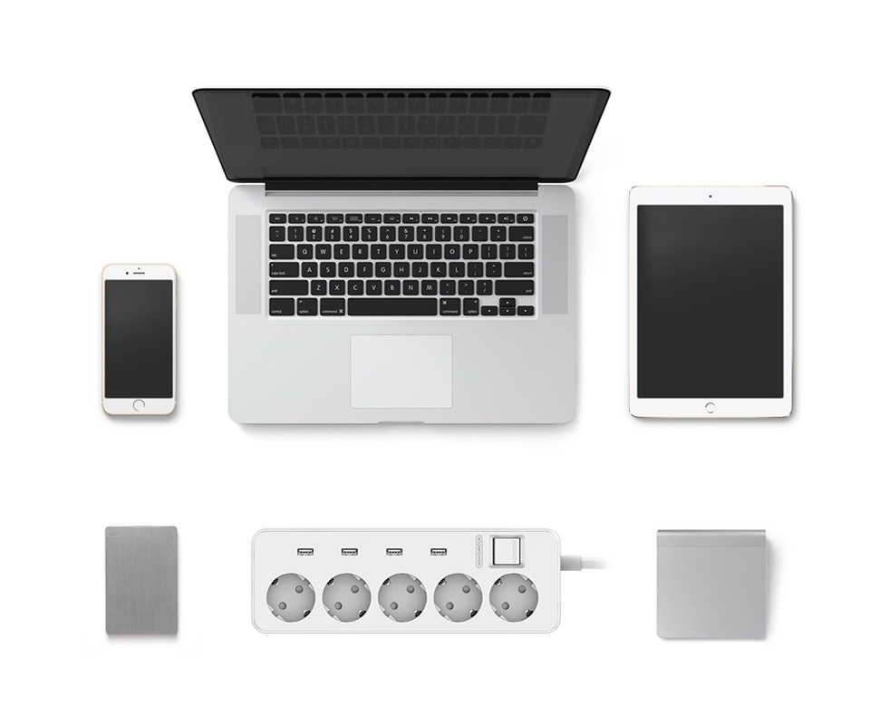 NTONPOWER MPS USB Extension Socket EU Plug (8)