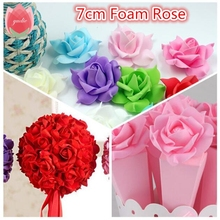 Cheap 10pcs PE Foam Pentagon Rose Artificial Flowers For Wedding Home Decoration Mariage Rosa Flores Clothing Hats Accessories