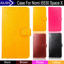 AiLiShi Factory Direct! Case For Nomi i5530 Space X Top Quality Flip Leather Case Cover Phone Bag Wallet Card Slot+Tracking Hot(China)
