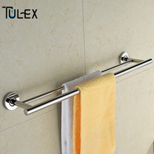 Bathroom Accessories Double Towel Bar Towel Holder Rack Stainless Steel Hanger for Towels Simple Design