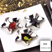 3Pcs/set Creative Japanese-style Stars Stainless Steel Disces Plates Seasoning Dishes Kitchen Dinner Plates(China)