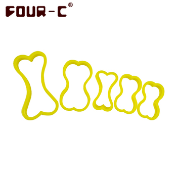 Dog bone cookie cutters plastic biscuit cutters 5 pieces one set dessert decorating tools kitchen accessory mold tools