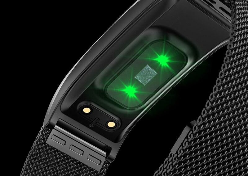 VERYFiTEK F4 Metal Smart Band Wristband Blood Pressure Heart Rate Monitor Men Women Fitness Watch Pedometer Smart Bracelet (15)