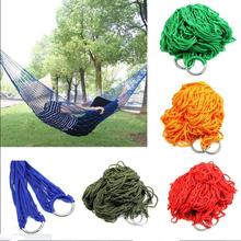 Nylon Hammock Hanging  Portable Hot Outdoor Mesh New Swing Travel Camping Sleeping Bed