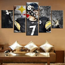 Best Gift American Football Sport Pittsburgh Steelers Team Home Decoration Wall Art Canvas Painting Artwork 5PCS/Set UnFramed