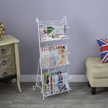Metal magazine rack books floor steel shelf stereo creative newspaper display shelf