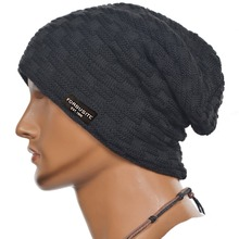 Men Fleece Lined Beanies Skullcap Warm Ski Caps Women Winter Hat FORBUSITE