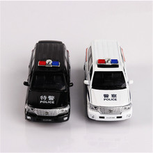 Police Car Security Simulation Alloy Car Model Sound  Light Back To The Car 4 To Open The Door Car 1/32 Children's Toys JSB165