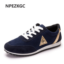 NPEZKGC new mens Casual Shoes canvas shoes for men Lace-up Breathable fashion summer autumn Flats pu Leather fashion suede shoes(China)