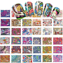 SWEET TREND 44Designs Colorful Nail Art Water Transfer Stickers Nail Tips Decals Beauty Full Cover Wraps Manicure LABLE2535-2578