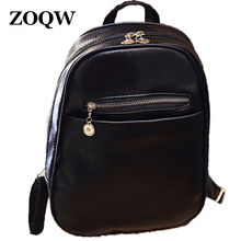 2016 Fashion European Style PU Leather Backpack Women Hot Sale Teenage Girls School Bag Casual Travel Shopping Backpacks WUJ0393