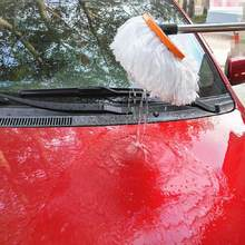 Universal Car Wash Brush Soft Fur Dust Collector Connection Water Pipe With Control Water Flow Clean Car Wash Tool Car-styling