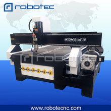 1325 high speed 4 axis cnc rotary wood router made in China with T-slot vacuum table and dust collector