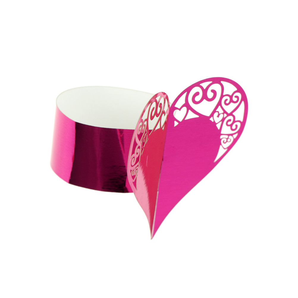 lovely heart paper napkin rings supplies for wedding party