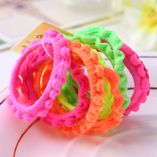 100pcs/lot Wholesale Super great elasticity Hair accessories for girls kids rubber bands(China)