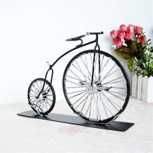 Home Retro Model the First Generation of Bicycle Home Desktop Decoration Interesting Gift for Children Accessories Handmade Bike(China)