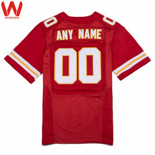 Custom Made Men/Women/Youth High Quality Stitched Logos&Name&Number Football Jerseys Big&Tall Size Color Red White(China)