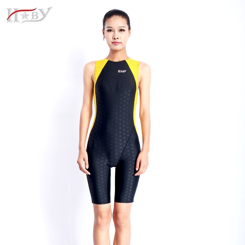 HXBY Professional Men Women one piece full swimming suit competition racing triathlon suit sharkskin bathing suits Free Shipping<br>