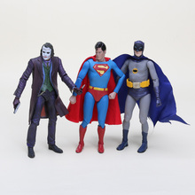4styles 18cm High quality Dawn of Justice Batman Superman The Joker model toy PVC action figure collection(China)