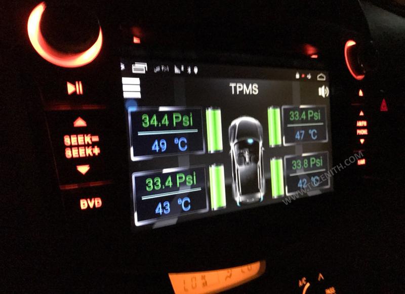 tire pressure monitoring sensor android dvd
