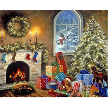 5d Diy Diamond Mosaic inlay 3d Painting Full Whole Square Drill Art Diamond Embroidery Cross Stitch kits Christmas gift Scenery