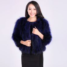 Autumn and winter new 2017 slim short women's natural raccoon dog fur coat outerwear women real fur jacket  plus size S-5XL