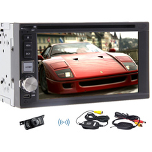 Car DVD Audio Automotive EQ PC Radio MP4 Accessory Double Din Steering Wheel Car Stereo CD System Video +Wireless Camera