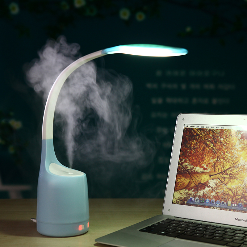 Eye Protection Bedside Book Reading Study Office Work Table Lamp with USB Air Humidifier Mist Maker Fogger<br>