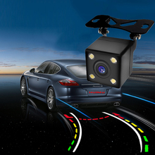 Intelligent 600L CCD HD Dynamic Trajectory Tracks car RearView Camera Reverse Backup  Auto Reversing Parking sensor