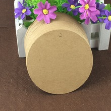 200PCS 10cm Round Kraft PriceTag Blank Hang Tags Paper Gift Tags For DIY Jewelry/Boxes/Notebook/Cosmetics/Cup/Bags/handicraft(China)