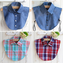 Buy fashion Detachable denim fake shirt collar plaid new women lace half shirt false fake collar removable femme gift 19 Styles for $2.54 in AliExpress store