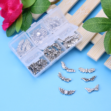 60pcs Butterfly Jewelry Components Angel Wings DIY Decor Charm Jewelry Pendant Chain Necklace Accessories(China)