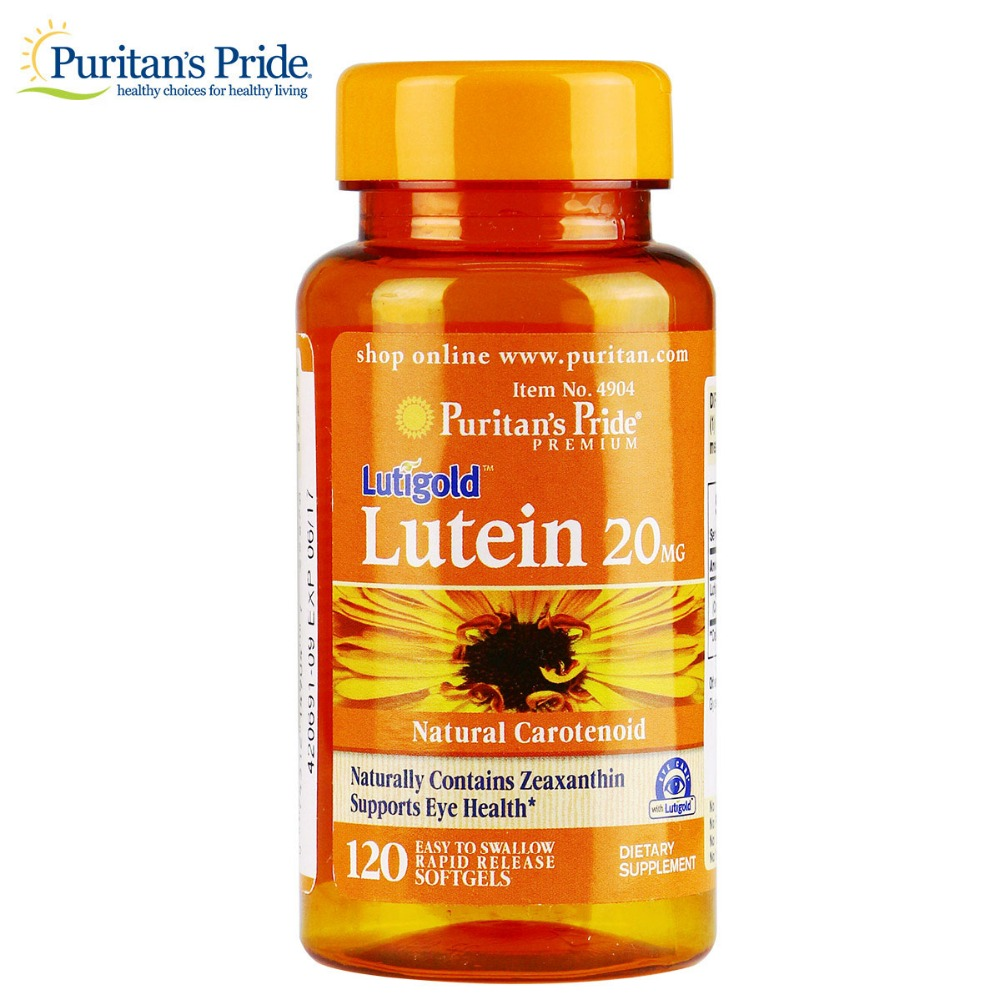 Free shipping Lutein 20 mg with Zeaxanthin-120 Softgels Relieve eye fatigue<br>