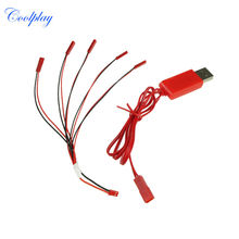 1 to 5 battery Charging Cable JST Plug + USB Cable for WLtoys V959 V929 V222 UDI U818A U817A Syma X1 Battery Free shipping