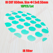 10PCS/Lot IR CUT Light Filter 650nm Round Size 7.5 x 0.55mm for Video Surveillance CCTV Security Camera Lens Infrared Block Use