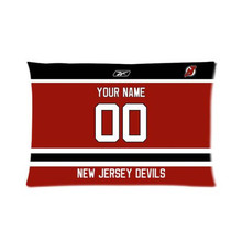 New Jersey Devils Hockey With Your Name and Numbers Logo Zippered Pillow Cover Durable Soft Pillow Slip Hidden Zipper(China)