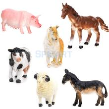 New Kids Toy 6 pcs Farm Animal Model Set Pig Dog Cow Sheep Horse Donkey