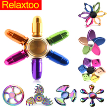 Metal Spinners Wheels Rainbow Fidget Spinner Hand Spiner Fast Best Bearing Finger Speaker Skinner Anti Stress Toy for Kid Gift(China)