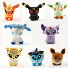 2016 New Pokeball go Eevee Plush Toys 13cm 1 Piece Genius Stuffed Toy for Kids Birthday Gifts Children Presents,Brinquedos