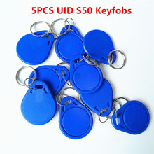 5Pcs/lot 13.5MHZ UID Changeable MF S50 1K IC Keys Keyfobs Token Tags S50 NFC Clone Copy Back door Rewritable Blank Magic Card(China)