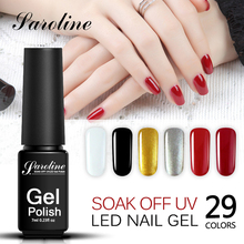 Saroline Lucky Color Nail Gel Polish Soak Off Nails Gel Supplier Glitter Gel UV LED Soak Off Semi-permanent Colorful Nail Glue(China)