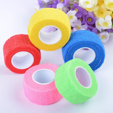 New waterproof self adhesive elastic bandage Medical first aid kit Nonwoven Cohesive wound Bandage for finger 2.5cm* 4.5m(China)