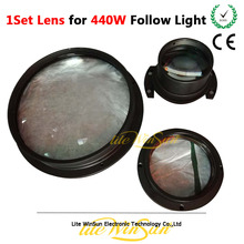 Litewinsune 1set Optical Lens for Follow Spot Lighting LED 440W Replace Accessory Parts Free Ship(China)