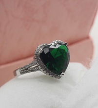 New Italian 925 Sterling Silver Wedding Rings for Women CZ Fashion Jewelry Engagement Green Crystal Ring Gift FJ083