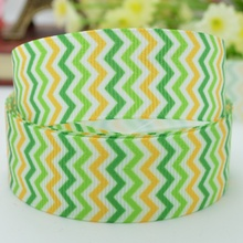 "Saint Patrick's day stripe ribbed with DIY bow materials 22mm print grosgrain ribbon 7/8"" diy cheap(China)"