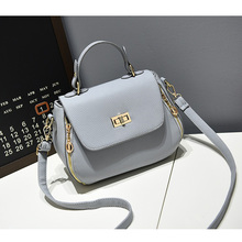 2017 Fashion Women Bag High Quality PU Leather Small Women's Tote Bag Black Beige Blue Red Gray Lady Work Crossbody Handbag(China)