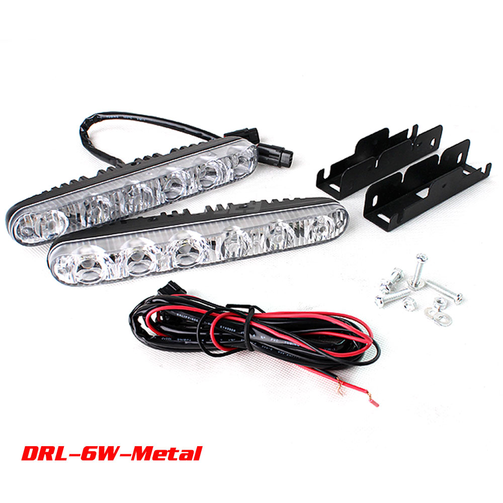 12v 6w LED Daytime Running Light Waterproof Universal DRL Kit Day Light Auto Driving Light External Light Save on 9w 20w<br><br>Aliexpress