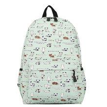 a66f3000b0d1 Harajuku Style Women Canvas Backpacks Teenage Girls School Bags Cartoon Cat Backpack  Female travel Bag Campus