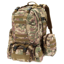 55L Outdoor Army Bag Camping Hiking Trekking Backpack Camo 3P CP color
